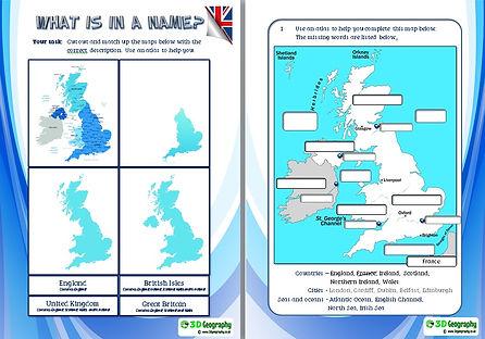 map skills worksheets | UK map worksheet