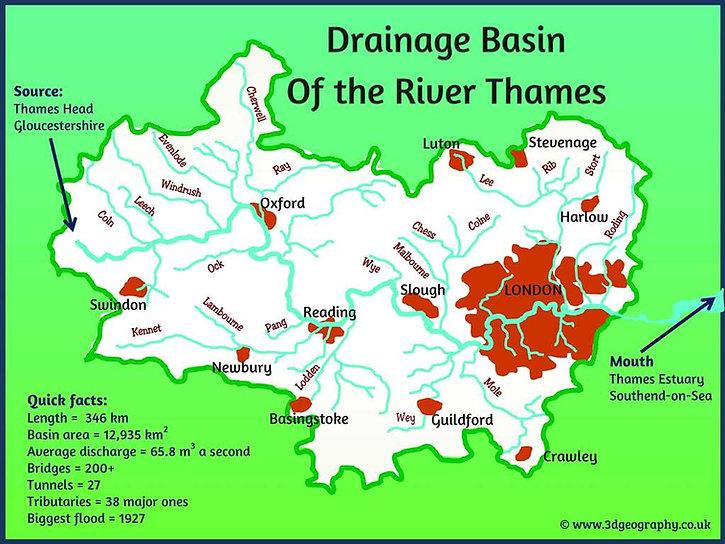 river thames map | thames river map | map of river thames