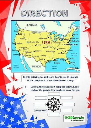 America Geography worksheets