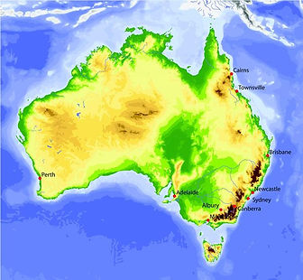 Geography map of australia | geography of australia | aussie geography