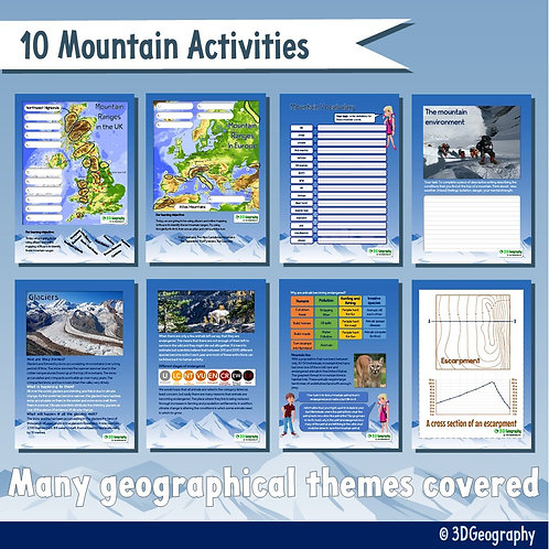 10 Mountain worksheets