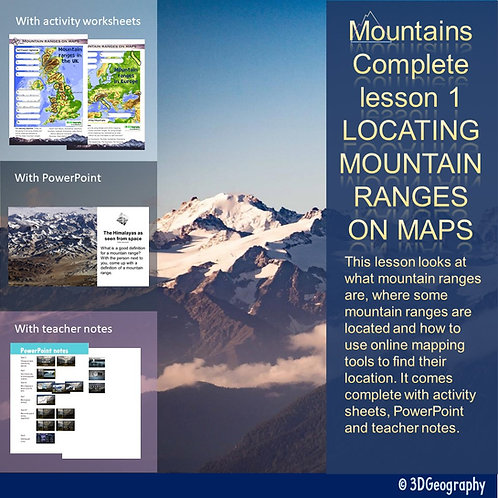 Mountains complete lesson - Mountain ranges on maps