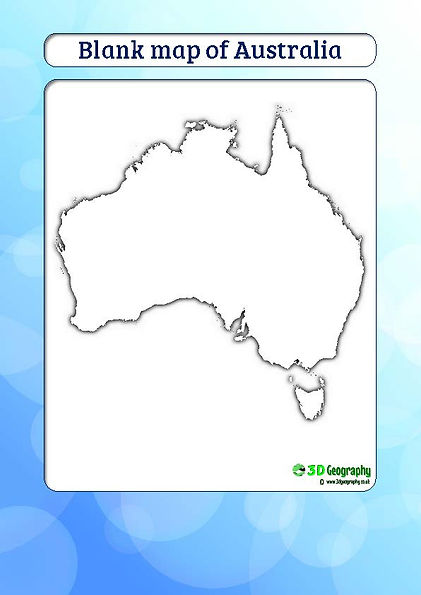 outline map of australia for kids