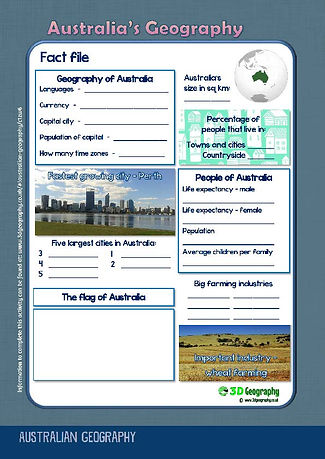 australia worksheets for middle school | geography of australia worksheets