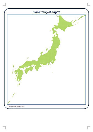 printable map of japan