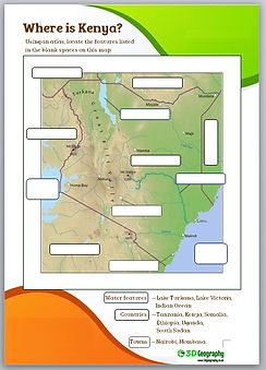 kenya for kids worksheets   kenya worksheets   kenya worksheet   geography worksheets   teaching geography