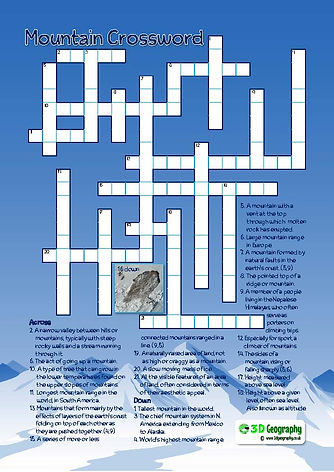 geography crossword
