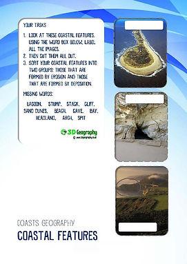 coastal landscapes worksheets