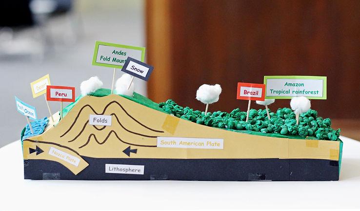 landscape model making for school project