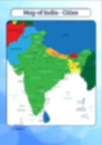 india map for kids | india map