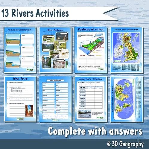 13 Rivers worksheets