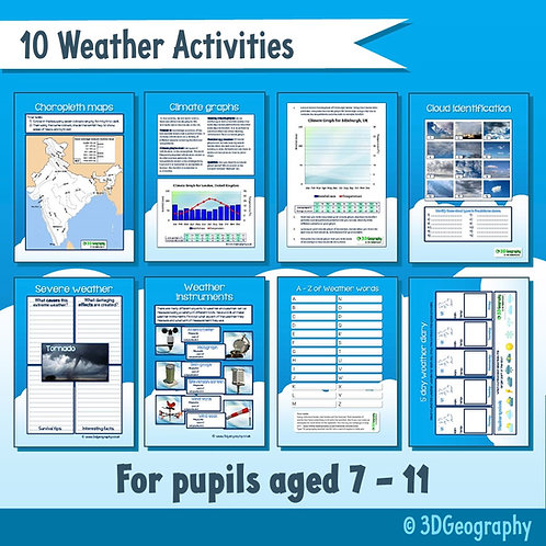 10 Weather activities - for pupils aged 7-11