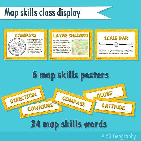 Map skills class display