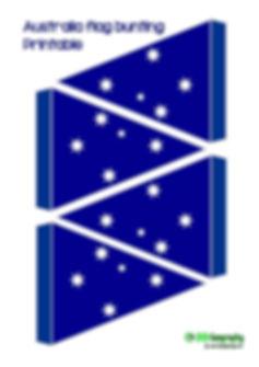 printable bunting - Australia flag   free printables -  Australia flag