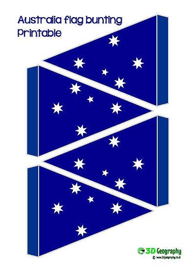 printable bunting - Australia flag | free printables -  Australia flag