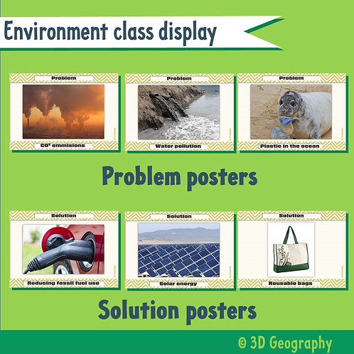 Environment posters for class display