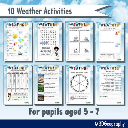10 Weather activities - pupils aged 5-7