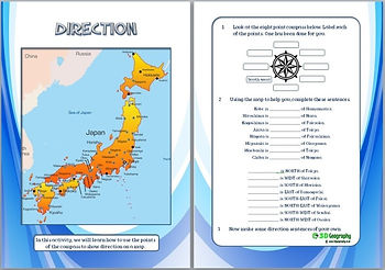 japan geography worksheet