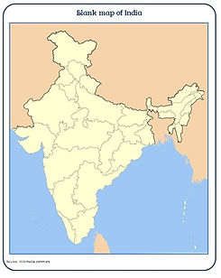 blank map of India | printable blank map | india blank map | india outline map