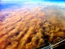 Dust storm - from the air