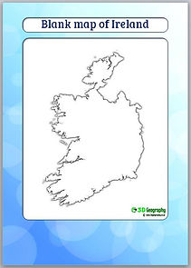 ireland blank map | ireland outline map | geography for kids