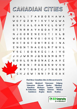 american cities word search