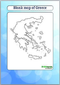 greece blank map | greece outline map | ks3 geography