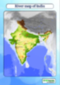 river map of india for kids | map of rivers of India | maps of countries