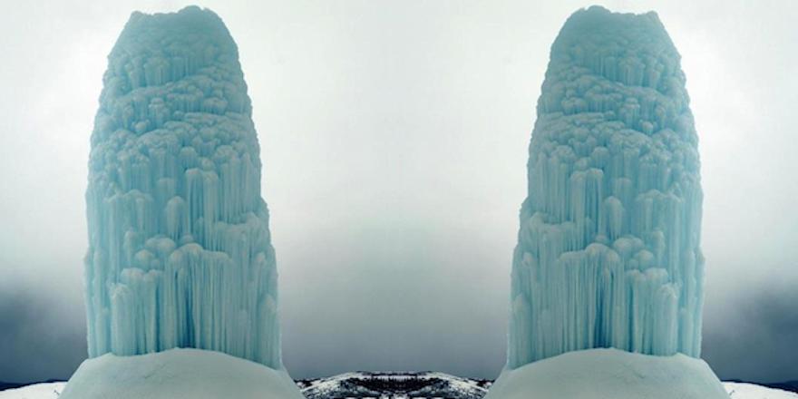 Frozen geysers