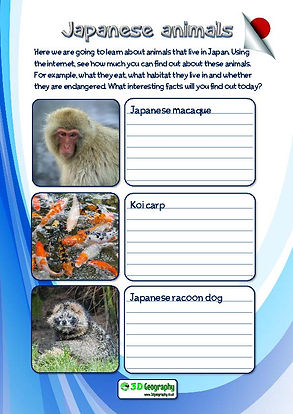 japanese animals worksheet
