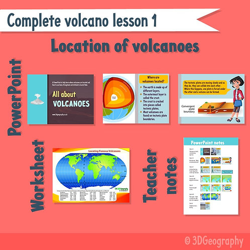 Volcano complete lesson 1 - Where are volcanoes located