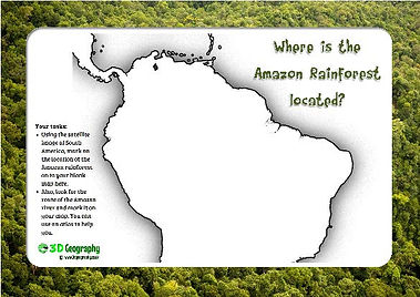 amazon rainforest mapping activity