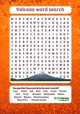 volcanic words | volcano vocabulary | volcano worksheet