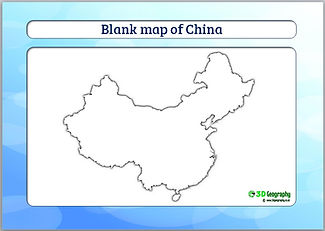 blank map of china | outline map of china | geography ks3