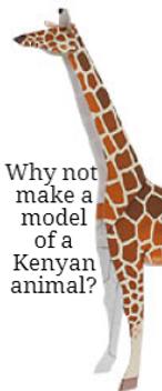 make a 3d model animal | kenya facts for kids