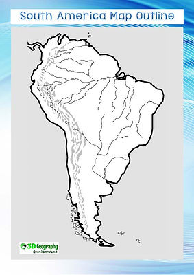 outline map of south america