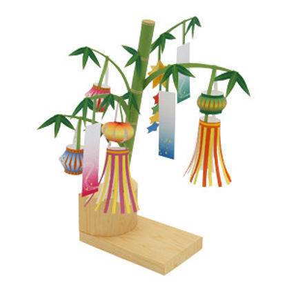tanabata model | star festival model making | japanese themed paper crafts | japanese themed model making for kids