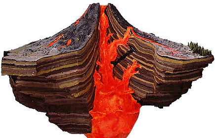 diagram of a volcano | diagram of volcano | inside a volcano diagram
