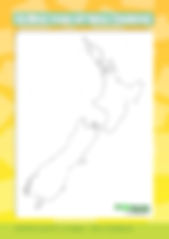outline map of new zealand | geography resources