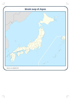 japan map for kids