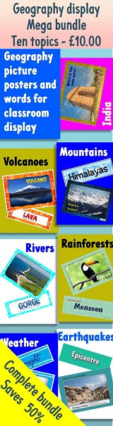 geography displays for the classroom
