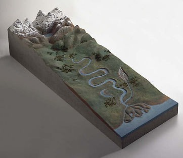 lesson idea | Geography for kids | geography model - make a river basin