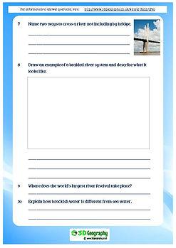 river facts comprehension | rivers worksheets ks2