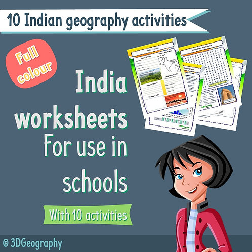 10 Indian Geography activities