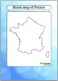 download blank map of france | outline map france | geography for kids | teaching geography