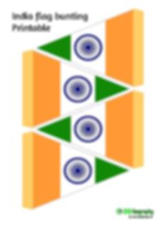 printable bunting - India flag | free printables - India flag
