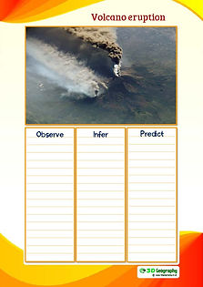 observe infer predict with photos of volcanic eruptions