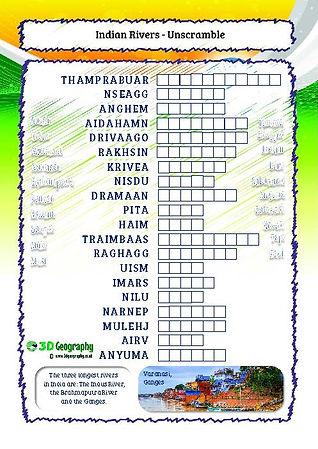 india river worksheet