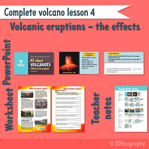 Volcano complete lesson 4 - The effects of volcanic eruptions