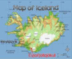 Eyjafjallajökull map